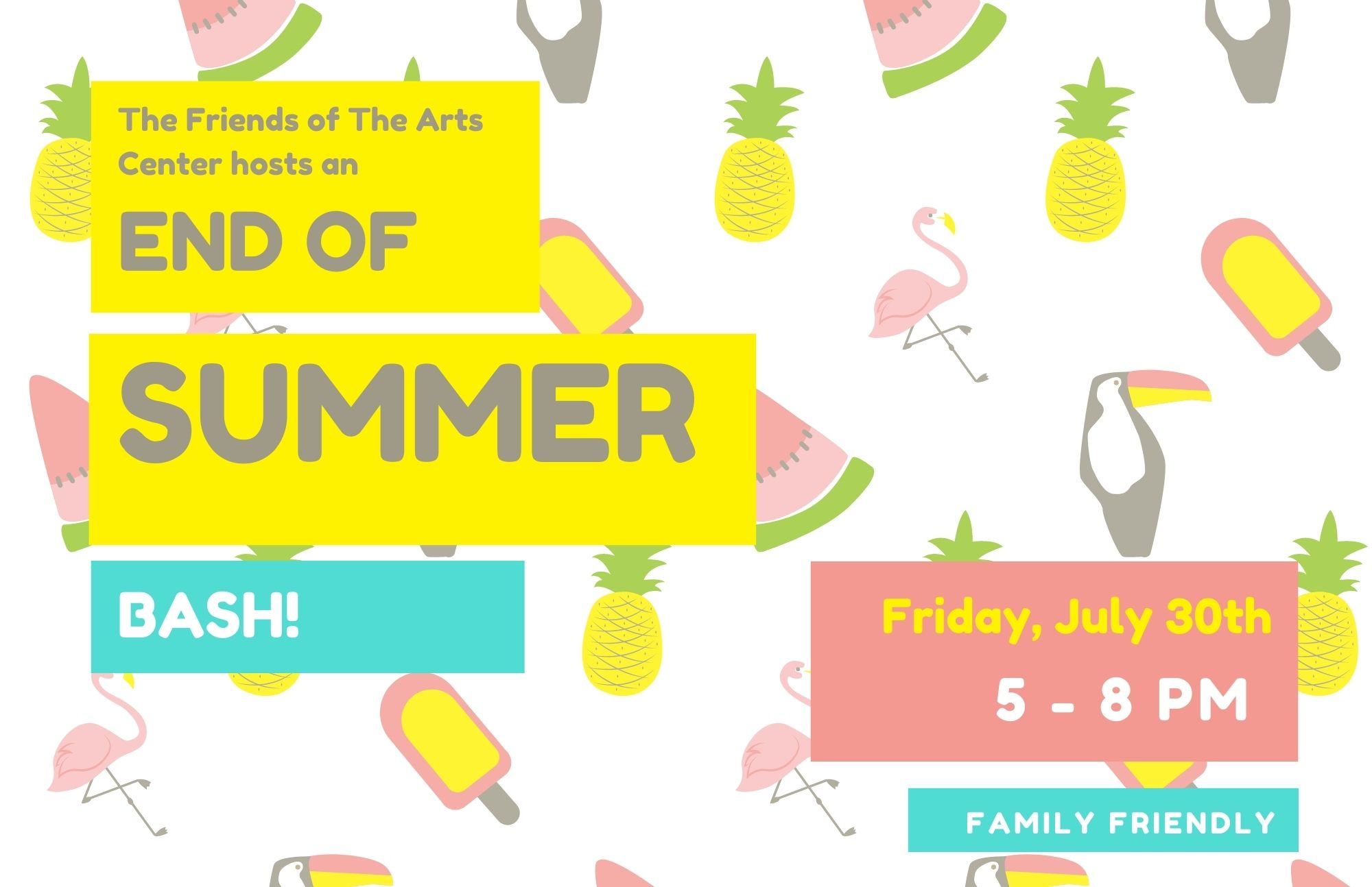Yellow and Blue Summer Tropical Pool Party Flyer (4)